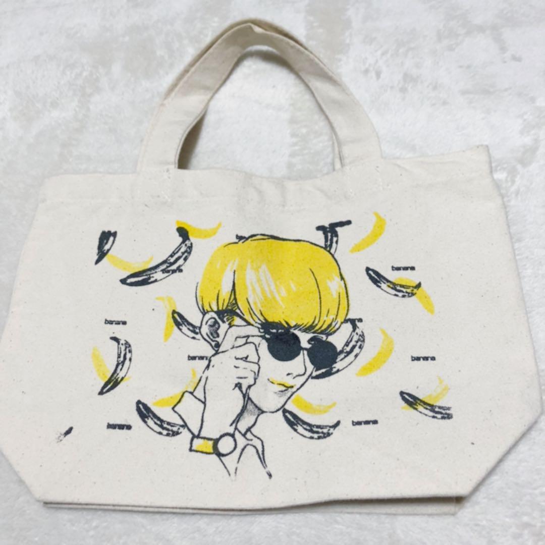 メルカリ トートバッグ 美少年 原宿系 イラスト 韓国 バナナ 810