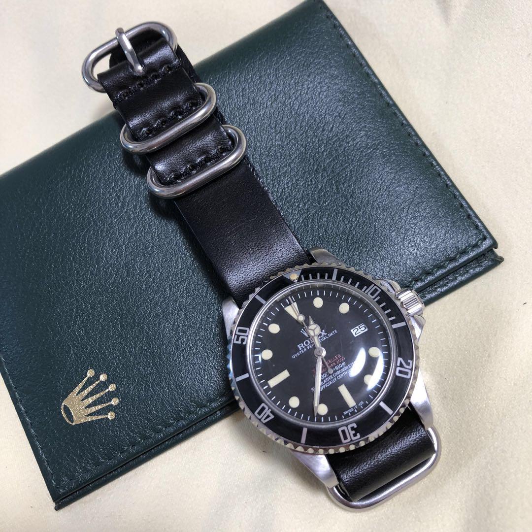 brand new 8fac7 cad39 メルカリ - ロレックスに最適 腕時計用 レザーNATOベルト 革 ...