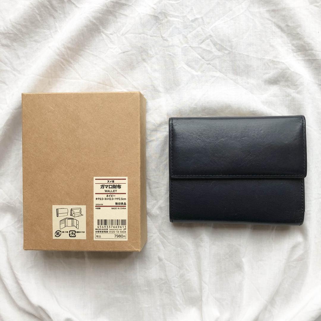 8b1a949488f0 メルカリ - [ あやちゃん ] 無印良品 ヌメ革 ガマ口財布 【折り財布 ...