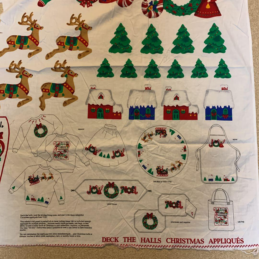 Holiday Crafts Merry Christmas Santas Iron On fabric appliques