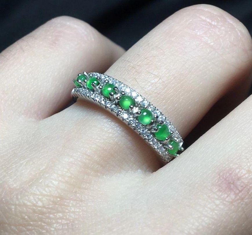 ミャンマー産本翡翠リング 陽緑 指輪 s925