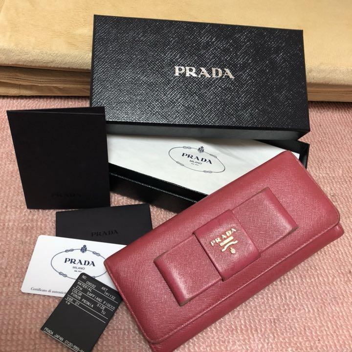 newest 4e138 65a23 PRADA プラダ 長財布 サフィアーノ(¥2,500) - メルカリ スマホでかんたん フリマアプリ