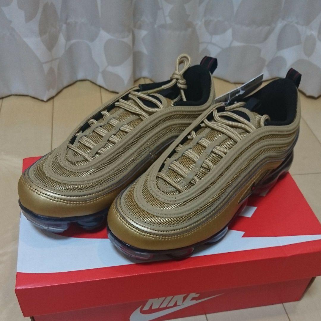 separation shoes 292d1 6dbe3 NIKE AIR VAPORMAX 97 METALLIC GOLD 26.0(¥14,000) - メルカリ スマホでかんたん フリマアプリ