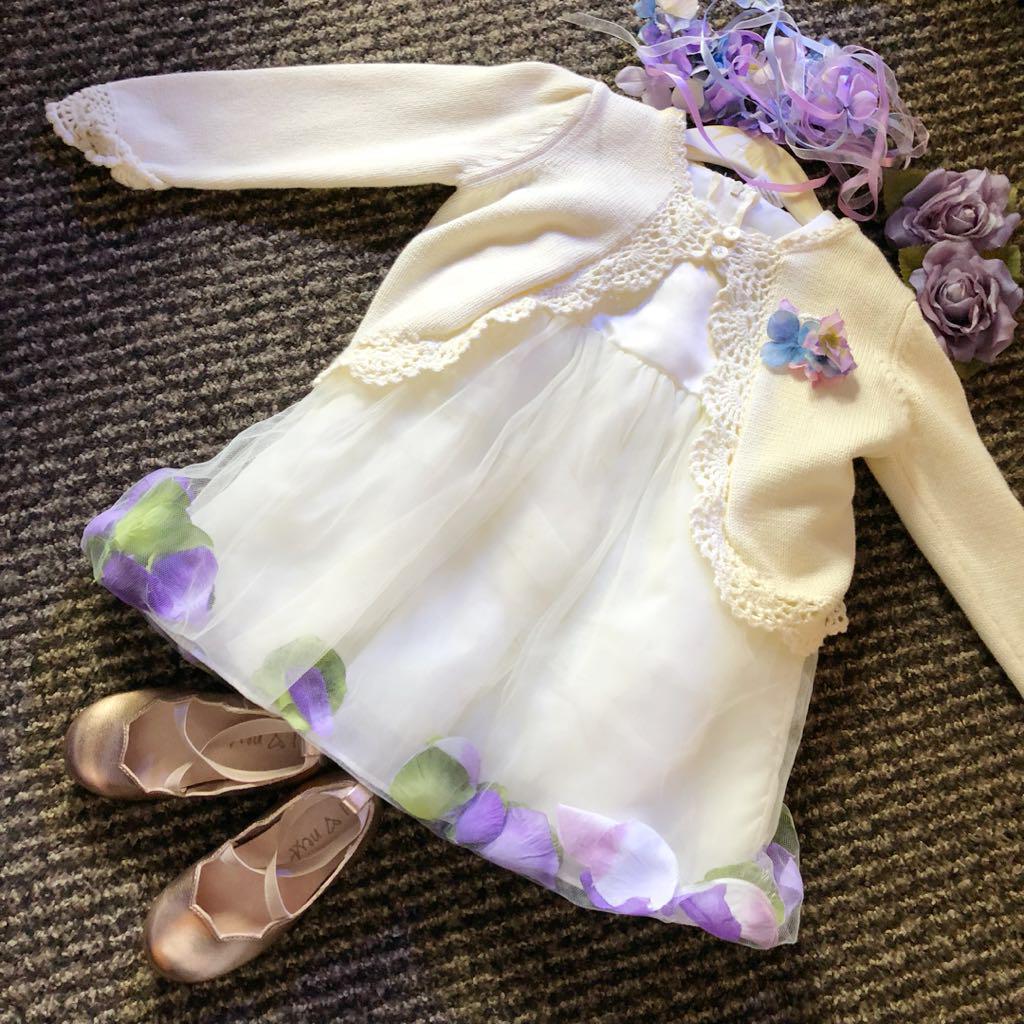 fa7d0ea7a13fe3 メルカリ - 1歳 結婚式 ドレス ワンピース フラワー セット 【ベビー ...
