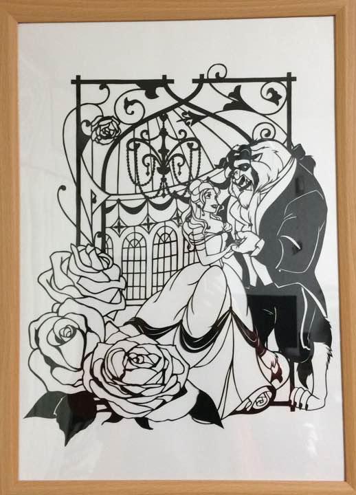 メルカリ 美女と野獣ディズニー 切り絵 クラフト布製品 1200
