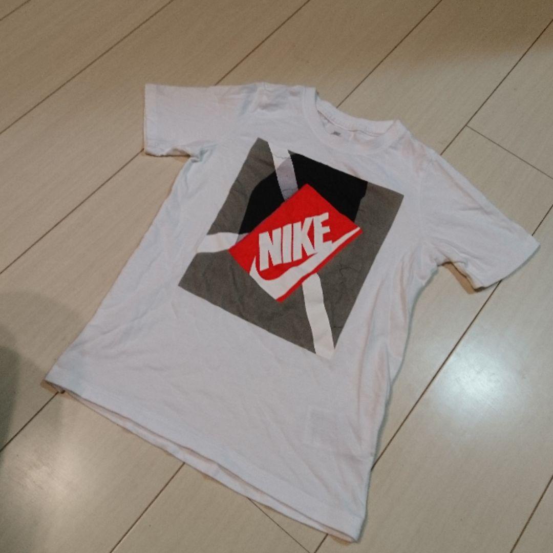 NIKE ナイキ ロゴ Tシャツ 140 キッズ xs 白 ホワイト