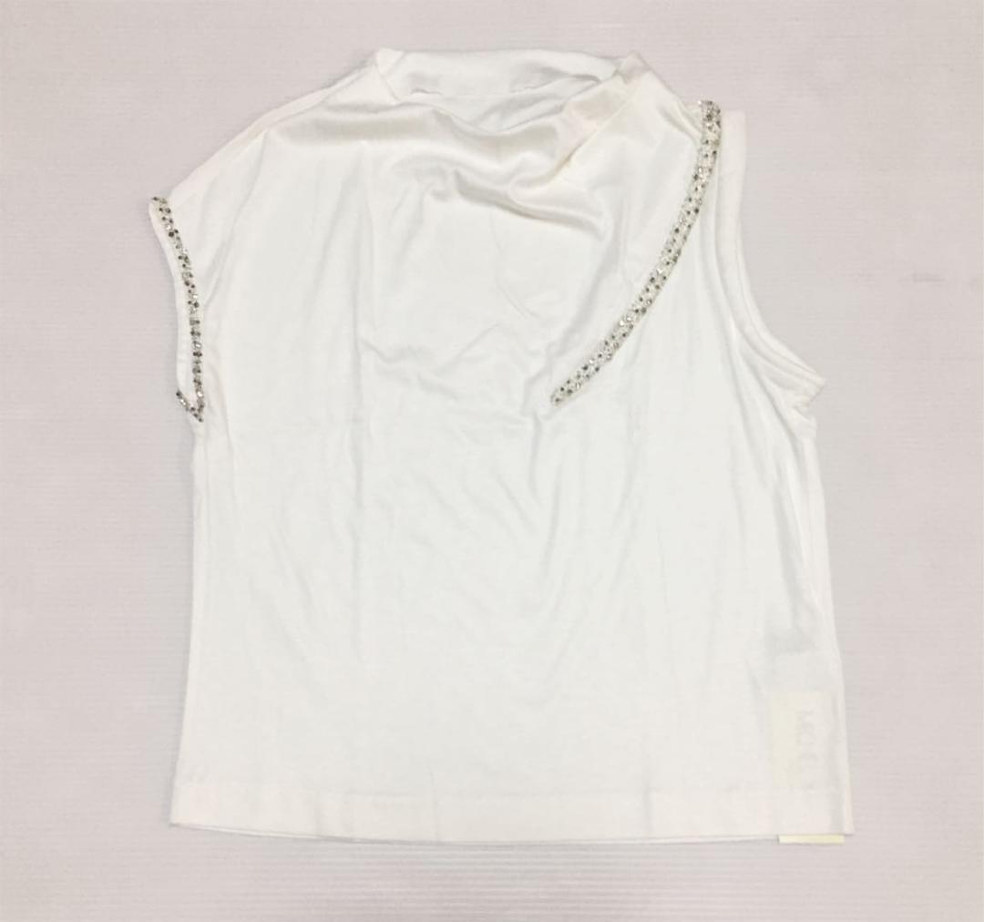 865b052a8749 メルカリ - 新品ミッシェルクラン ビジュー付カットソー白 【Tシャツ ...