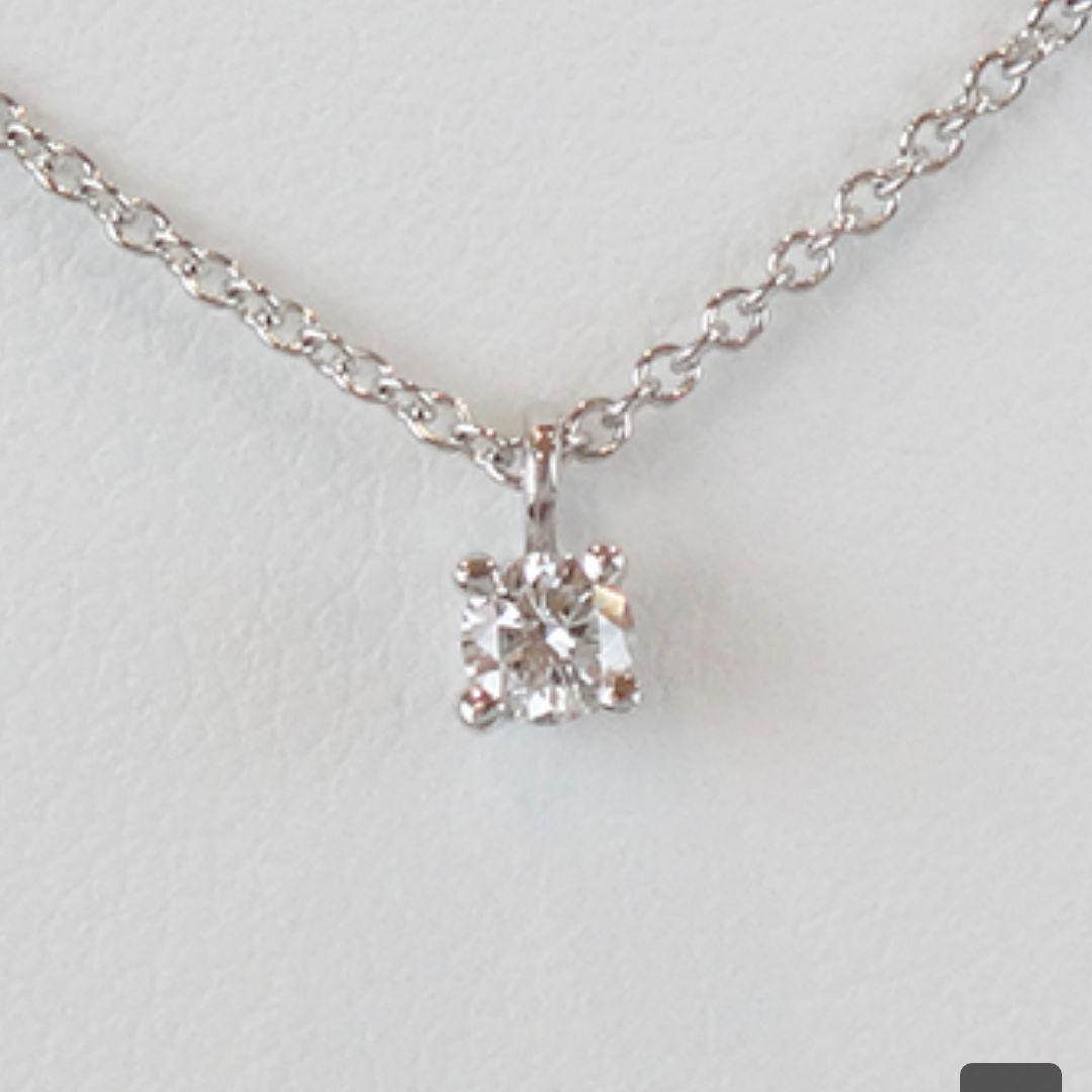 size 40 35676 0ab5f ティファニー ソリティア ダイヤモンドネックレス(¥39,800) - メルカリ スマホでかんたん フリマアプリ