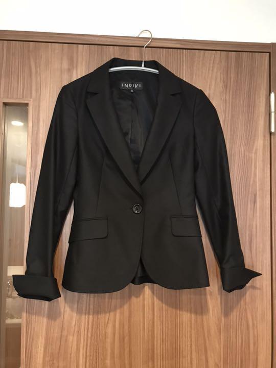 メルカリ インディヴィ 3号レディース スーツ ジャケット 小さい