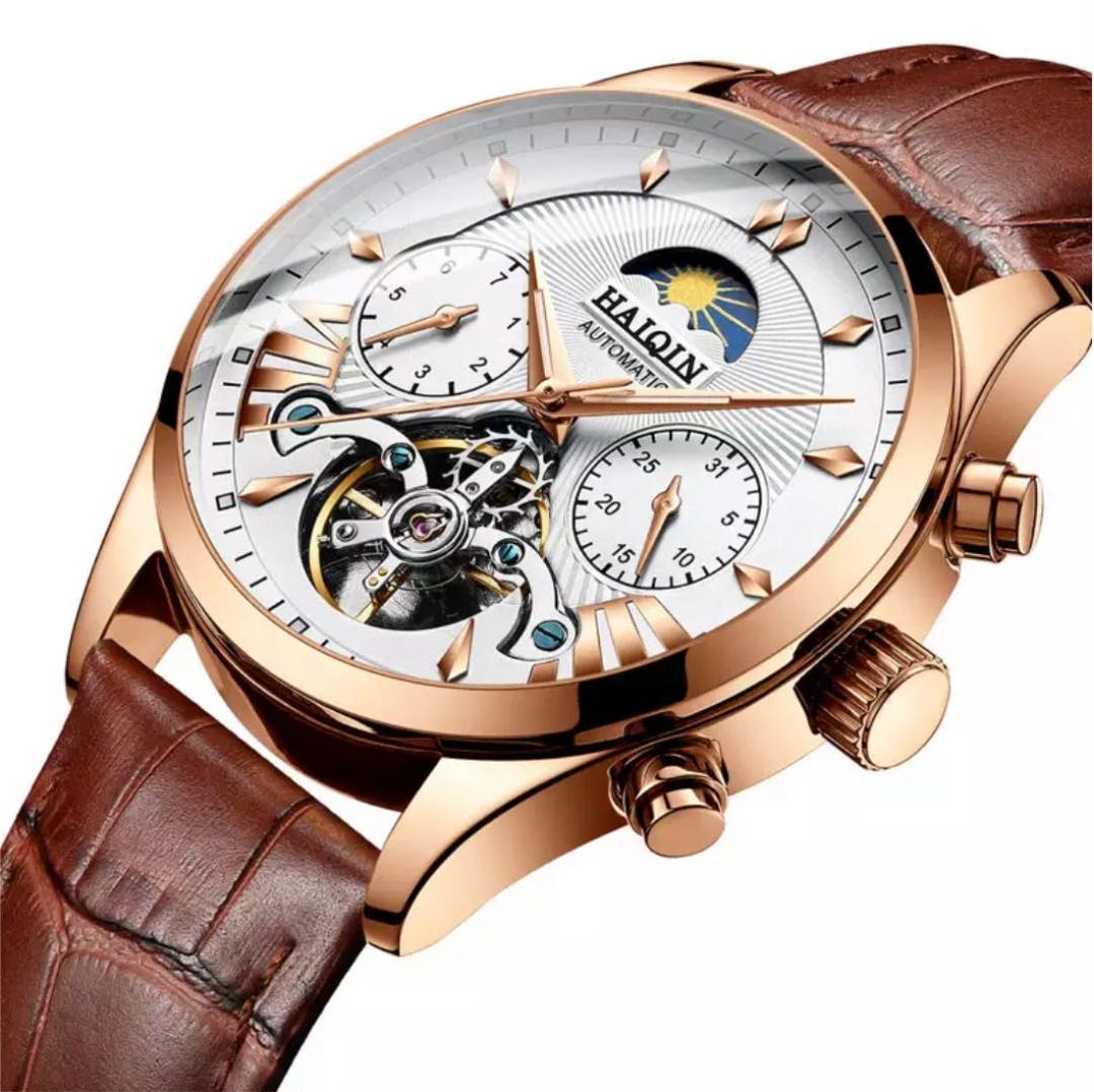 new arrival 20b1d dfd1e [新品・未使用] HAIQIN 高級 多機能 トゥールビヨン機械式 メンズ腕時計(¥7,700) - メルカリ スマホでかんたん フリマアプリ