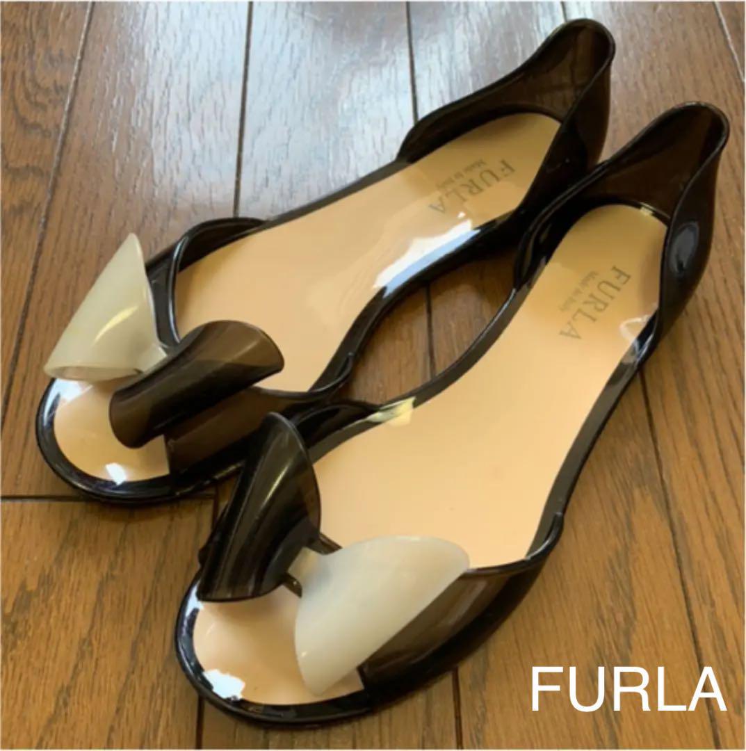 9f39a66c2d7f メルカリ - FURLA フルラ ラバーサンダル リボン 靴 【ハイヒール ...