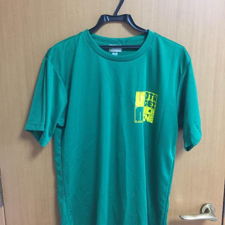 ヲタ芸マシーンTシャツ 緑 Lサイズ