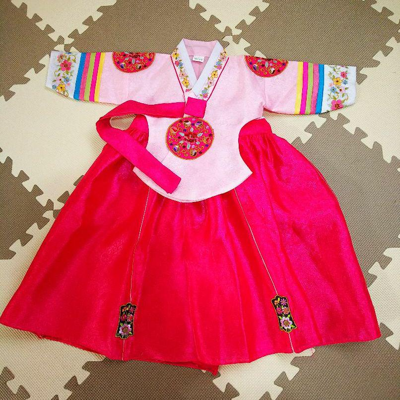 3b7cfa6e1c796 メルカリ - チマチョゴリ 子供 韓国 ドレス  ベビードレス  (¥1