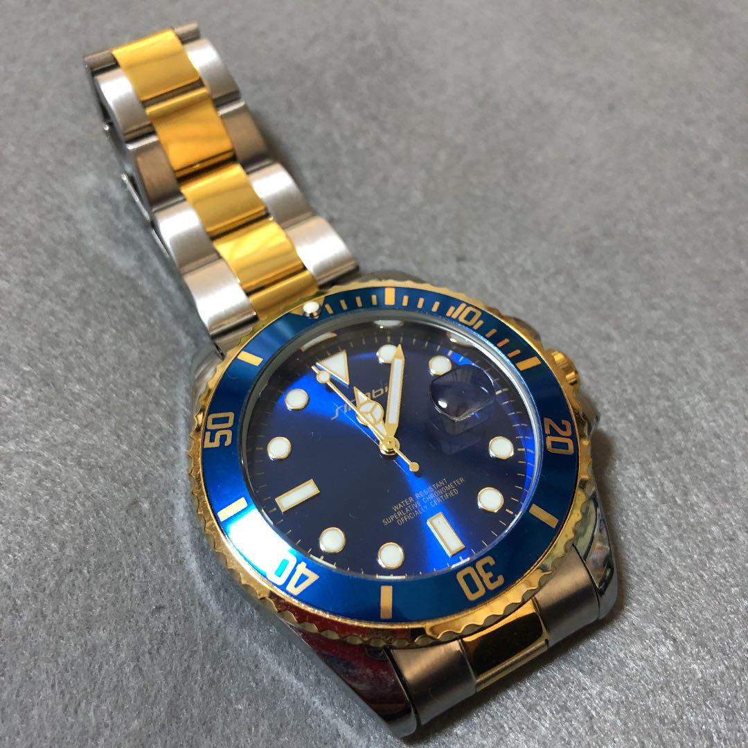 new products b1ec5 14f5b ダイバーズウォッチ 青サブマリーナ デイト コンビ 腕時計 クォーツ(¥2,800) - メルカリ スマホでかんたん フリマアプリ