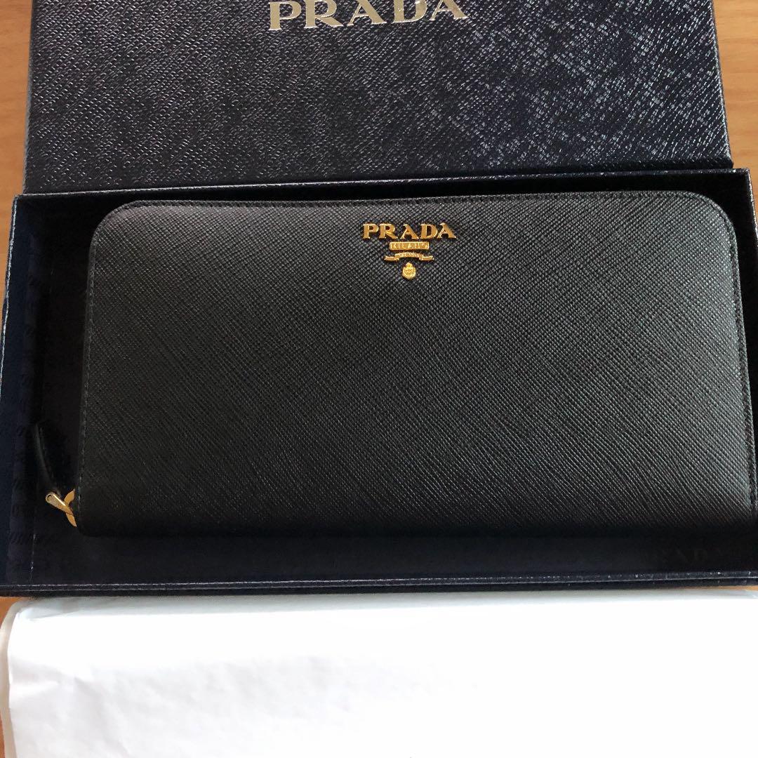 check out cfba2 d224a PRADA プラダ 新品 長財布 黒 サフィアーノ メタル ウォレット(¥67,000) - メルカリ スマホでかんたん フリマアプリ