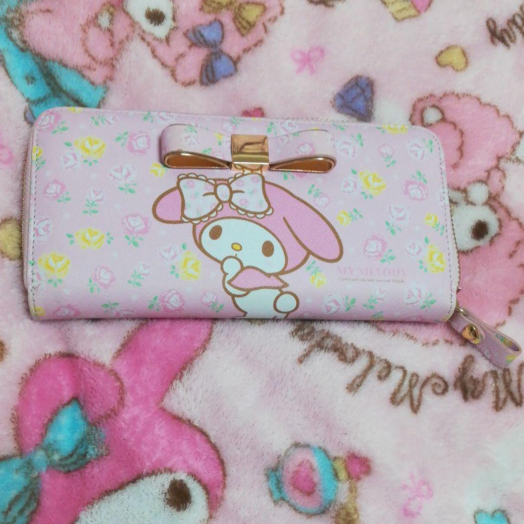 964755f9ae3a メルカリ - マイメロディ 長財布 ワレット ウォレット ピンク 花柄 ...
