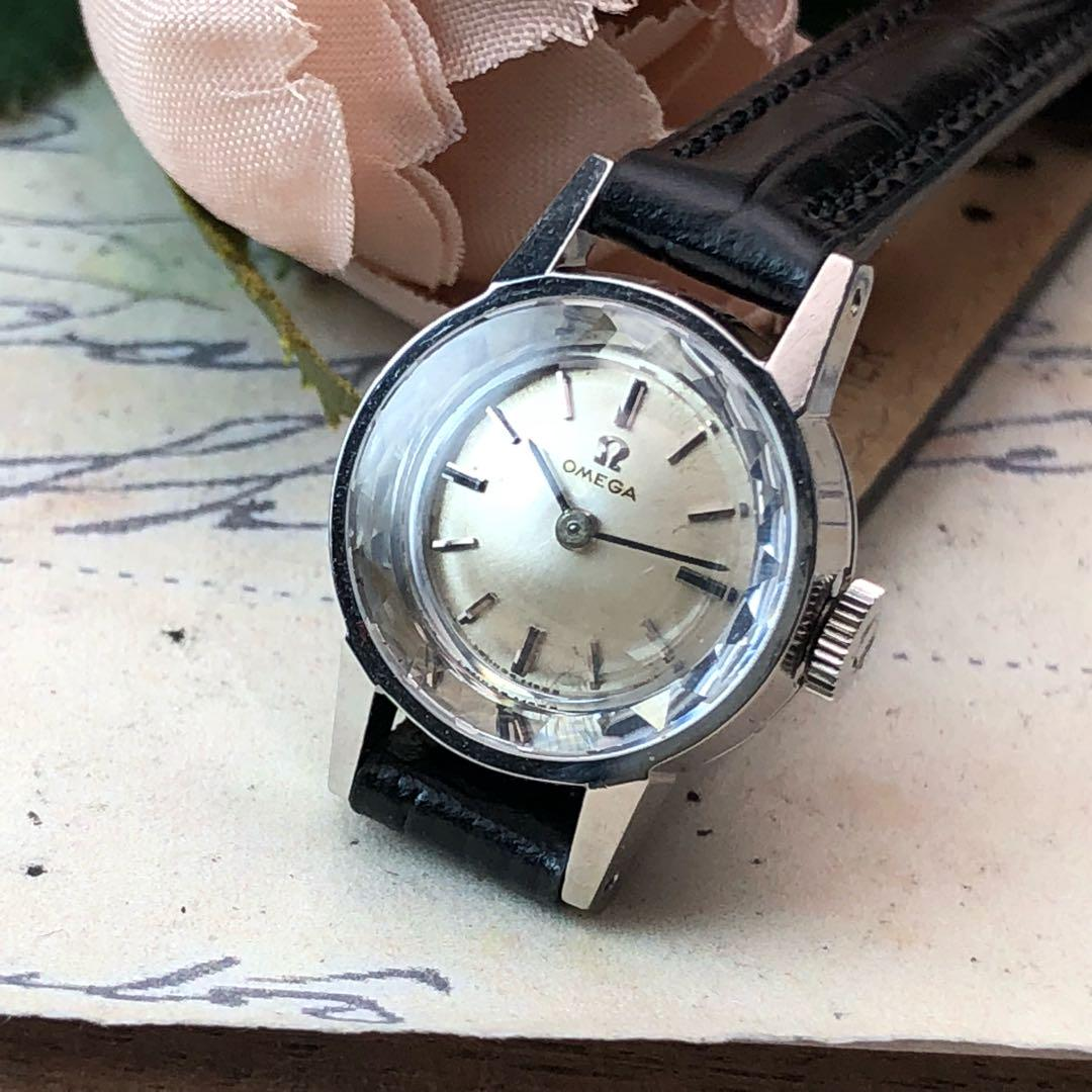 super popular bb0b6 41979 OH済 極美品✨オメガ カットガラス ✨ヴィンテージ 手巻き 新品ベルト 腕時計(¥32,800) - メルカリ スマホでかんたん フリマアプリ