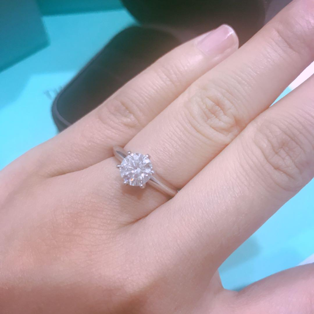 brand new f23cb cc0c2 ティファニー ダイヤモンドリング 1カラット以上 TIFFANY 指輪(¥1,666,000) - メルカリ スマホでかんたん フリマアプリ