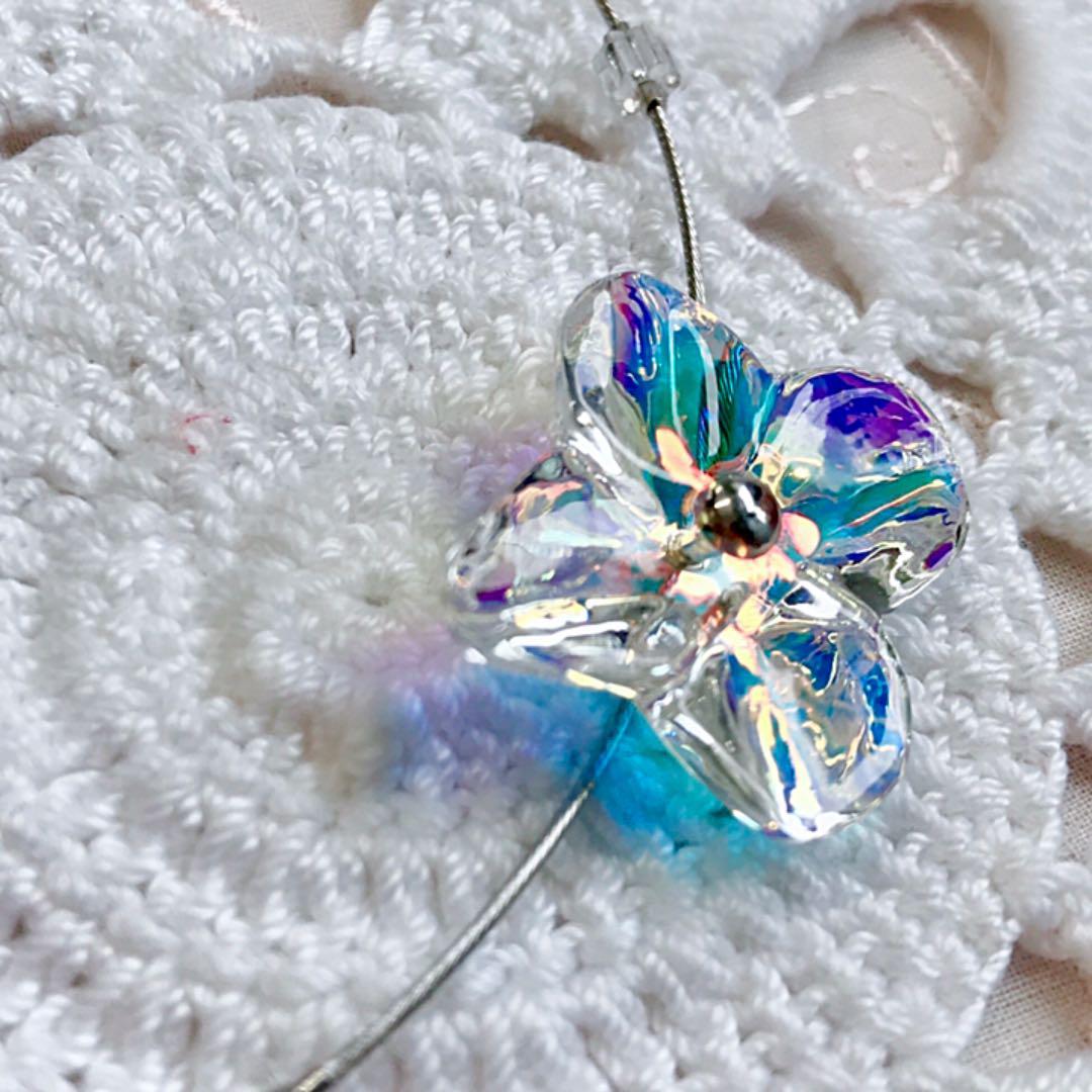 ❤️レア❤️バカラ オルテンシア イリゼクリア オメガネックレス 虹色の煌めき✨
