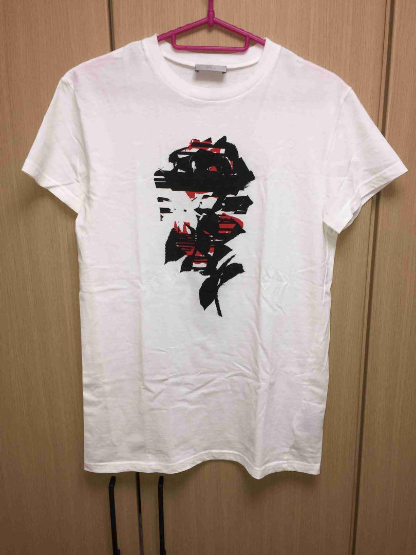 best loved 94845 f0297 正規 Dior Homme ディオールオム 薔薇 Tシャツ(¥32,400) - メルカリ スマホでかんたん フリマアプリ