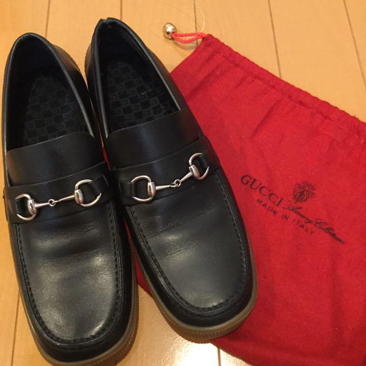 GUCCI ホース ビットローファー パンプス 靴 レザー 黒 美品