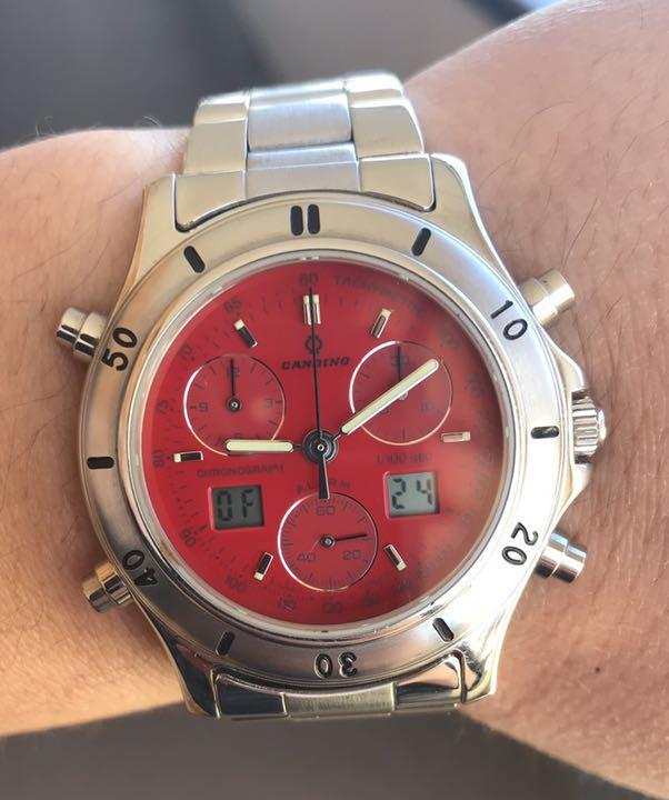 pretty nice 3b27e 0a449 キャンディーノ 腕時計 クロノグラフ ロレックス タグホイヤー 好きにオススメ(¥7,000) - メルカリ スマホでかんたん フリマアプリ