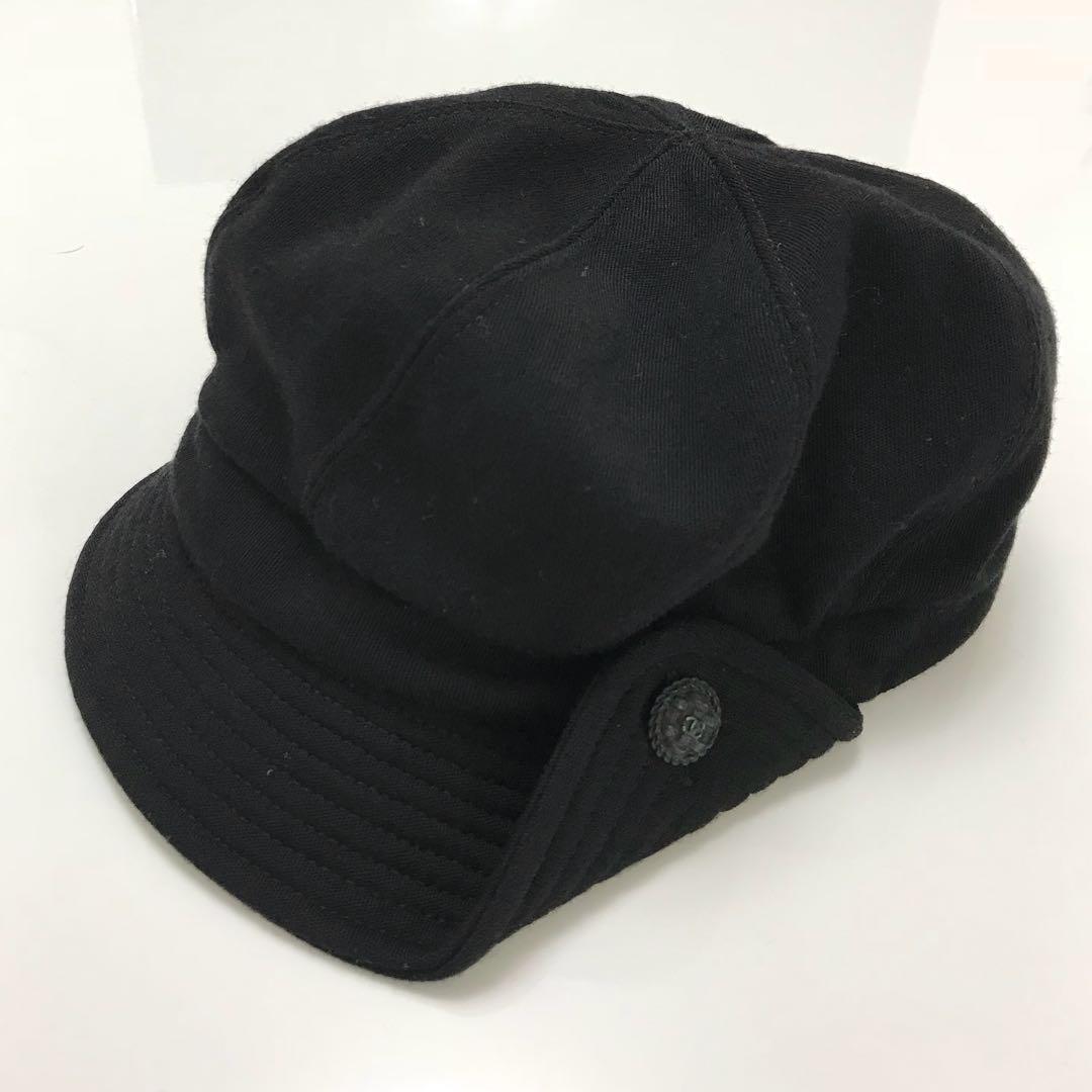 555475207fd0 メルカリ - CHANEL シャネル 帽子 キャップ キャスケット 黒 ブラック ...