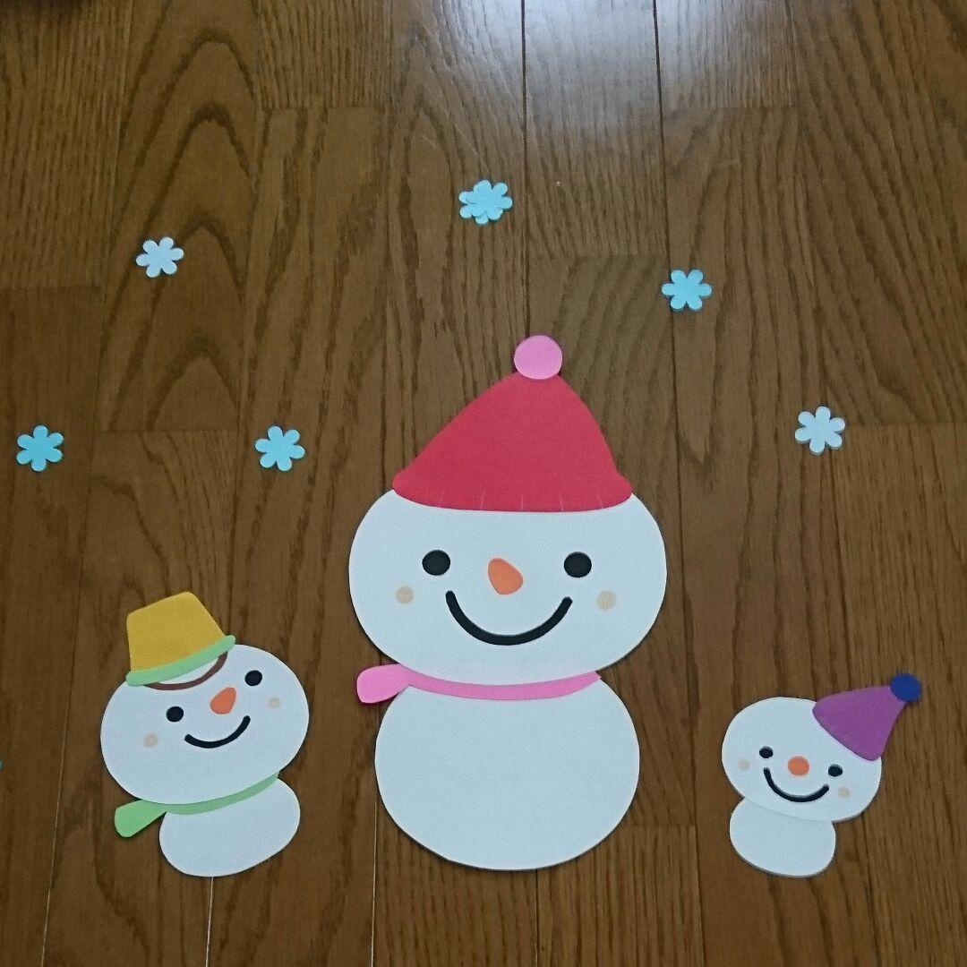 壁面 雪だるま 【12月・1月・2月】冬の壁面飾りと製作に使えるアイデアまとめ