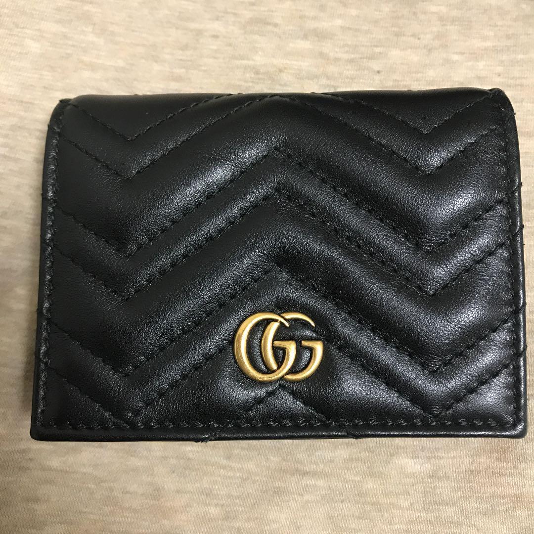 9e06f85f768f メルカリ - GUCCI グッチ GGマーモント 二つ折り財布 カードケース ...
