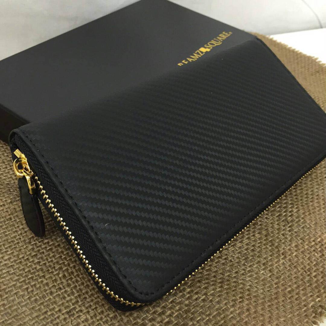 6a5a02dd3d42 メルカリ - 新品 長財布 カーボンレザー 財布 メンズ レディース 黒 ...