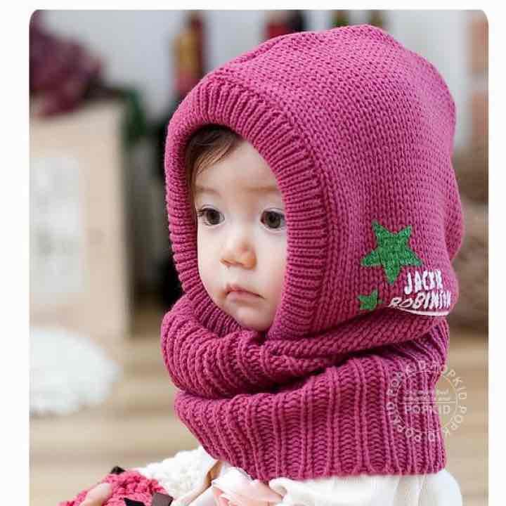 4d18cd0168e1f 新品☆ニット帽ネックウォーマー 子供用 キッズ防寒着 秋冬 女の子ベビーマフラー