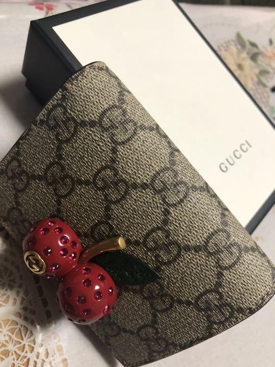 purchase cheap 2075a ac56c GUCCI 財布 さくらんぼ