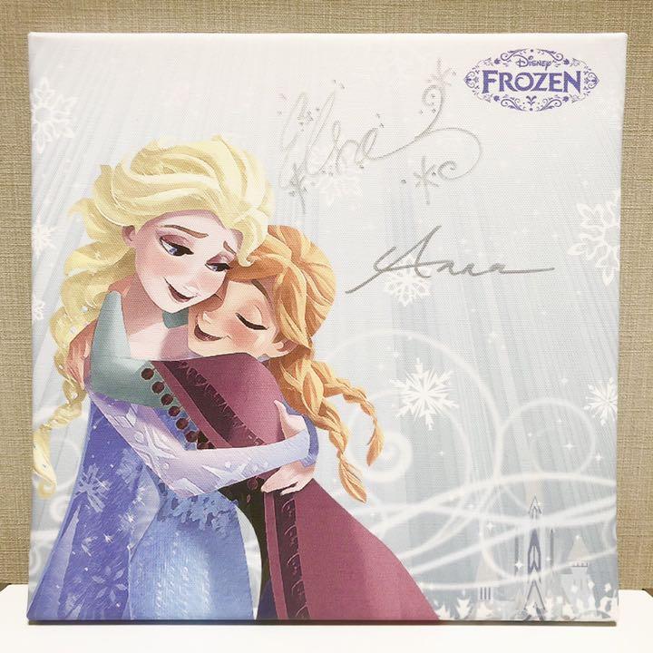 メルカリ アナと雪の女王 サイン入りイラストパネル アナ エルサ