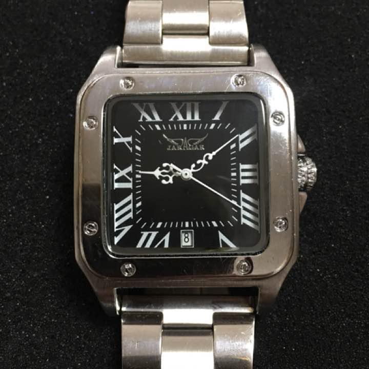brand new 60568 f67bb JARAGAR ジャラガー 自動巻 メンズ 腕時計 スクエア(¥2,500) - メルカリ スマホでかんたん フリマアプリ