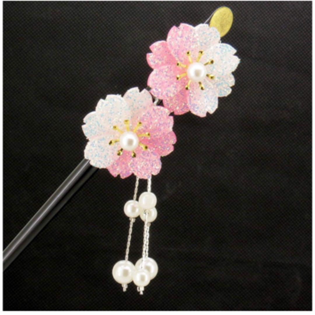 メルカリ 髪飾り花 かんざし 和装アクセサリー フラワー 着物ヘア