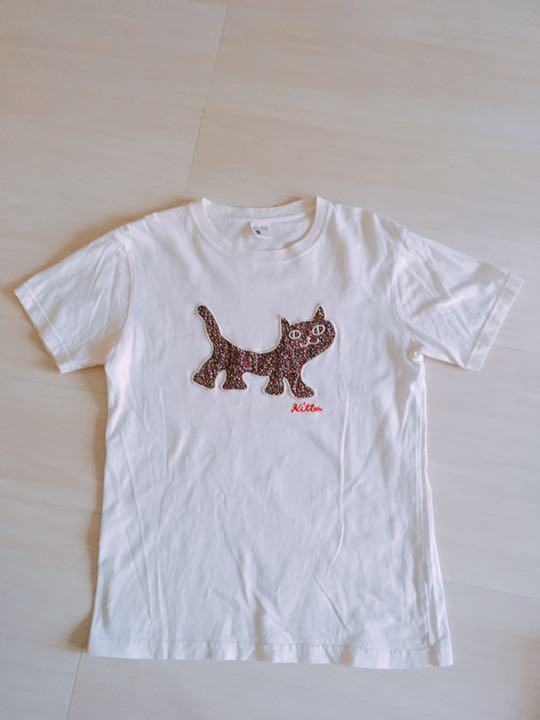 メルカリ Blue Bluet 白 ねこ 猫のイラスト Tシャツ トップス T