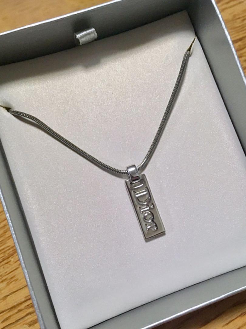 finest selection 5f6b1 36259 Dior ネックレス シルバー ロゴ 型押し(¥1,299) - メルカリ スマホでかんたん フリマアプリ