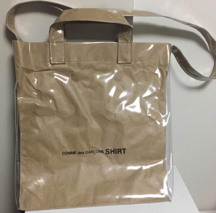 32c8d8542bf5 メルカリ - 新品未使用 確実正規品 コムデギャルソン シャツ PVC トート ...