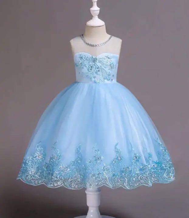 a5e2a870e5582 メルカリ - ブルー 結婚式 発表会  フォーマル ドレス  (¥3