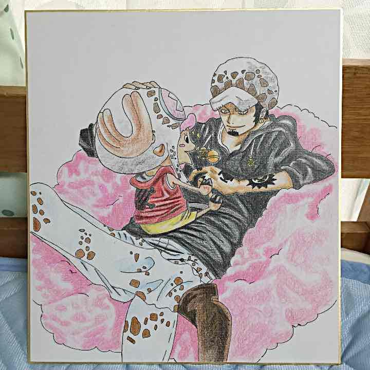 メルカリ 紫音 One Pieceイラスト チョッパーロー 色紙