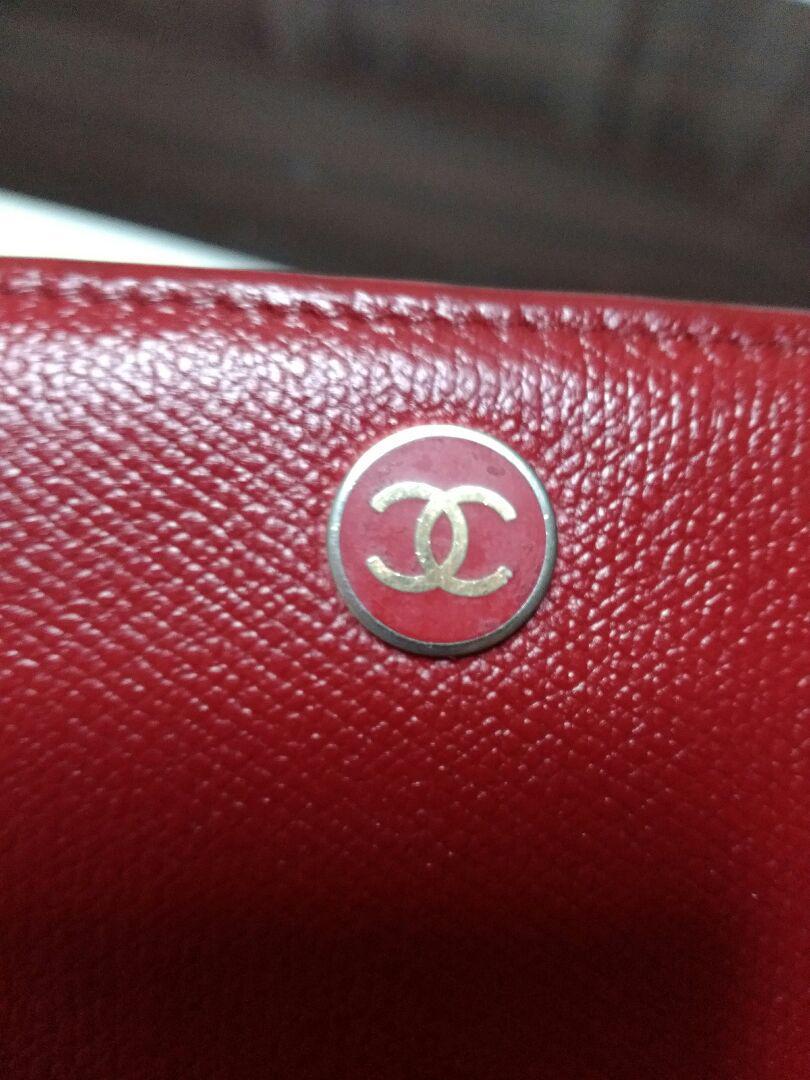 f5fd901c97e7 メルカリ - 『10万円(参考価格)シャネルココボタン 赤 長財布 ...
