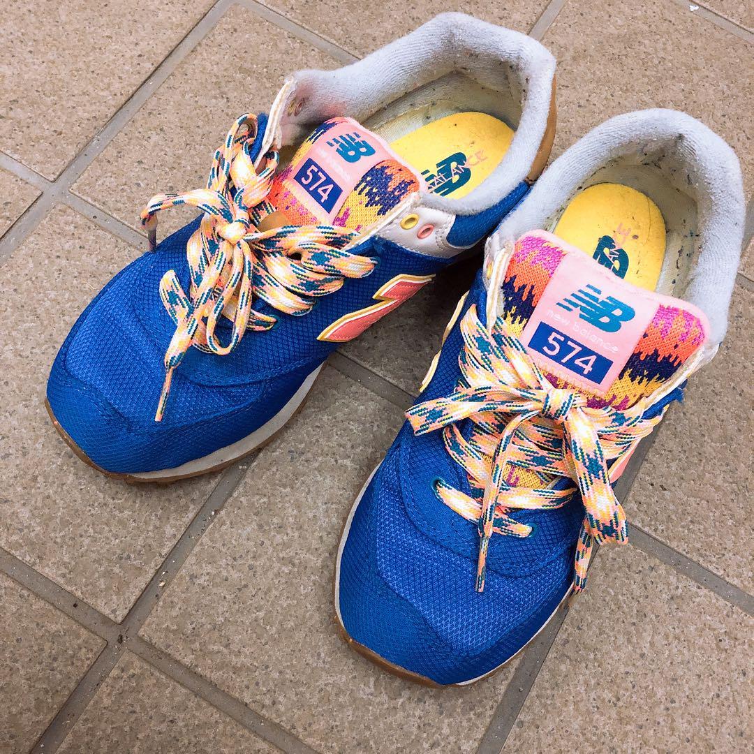 c48b1be686115 メルカリ - 【 】ニューバランス スニーカー 23.5 青 カラフル ...