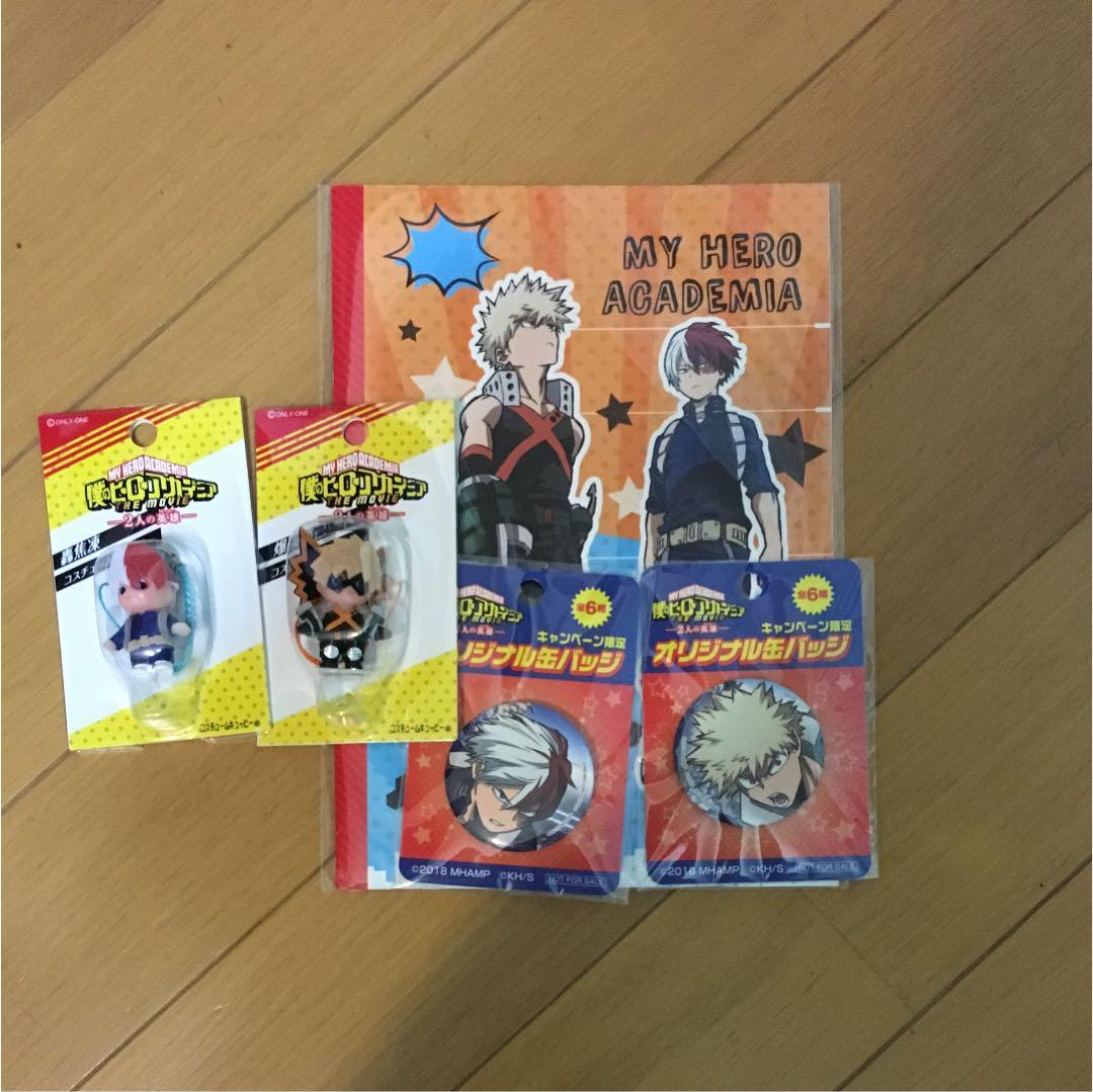 ヒロアカ映画グッズ 轟 爆豪 キューピー 缶バッジ ノートセット(¥3,400) , メルカリ スマホでかんたん フリマアプリ