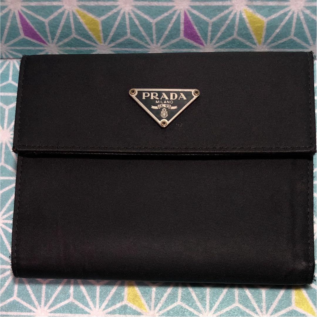 more photos be483 efce9 【送料込み】PRADA プラダ 折り財布 レザーブラック(¥5,700) - メルカリ スマホでかんたん フリマアプリ