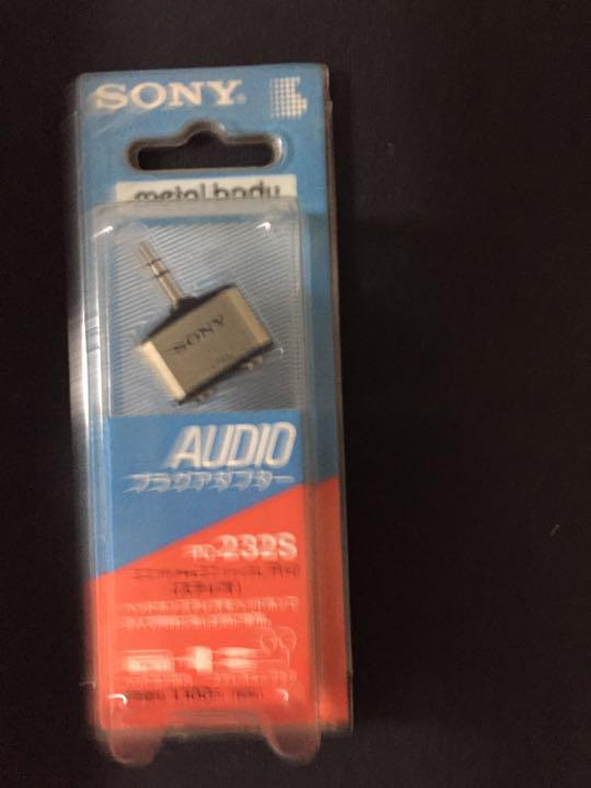 SONY stereo mini plug and stereo mini jack PC-232HS//PC-232S × 2