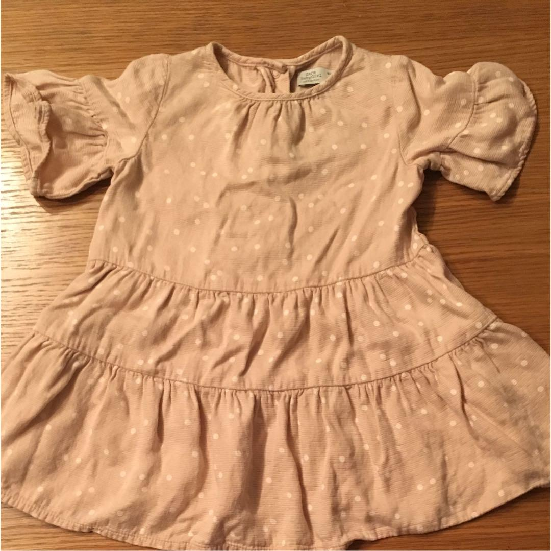 c8bbe80c1c901 メルカリ - Zara Baby Girl ザラ キッズ ドットワンピース 92cm  ザラ ...