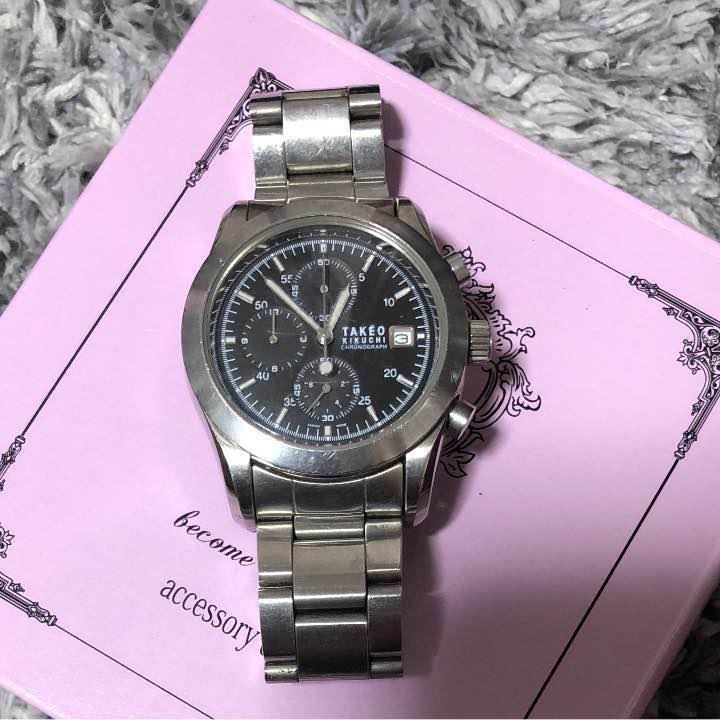 newest 5f844 9c2f5 TAKEO KIKUCHI タケオキクチ 時計(¥1,600) - メルカリ スマホでかんたん フリマアプリ