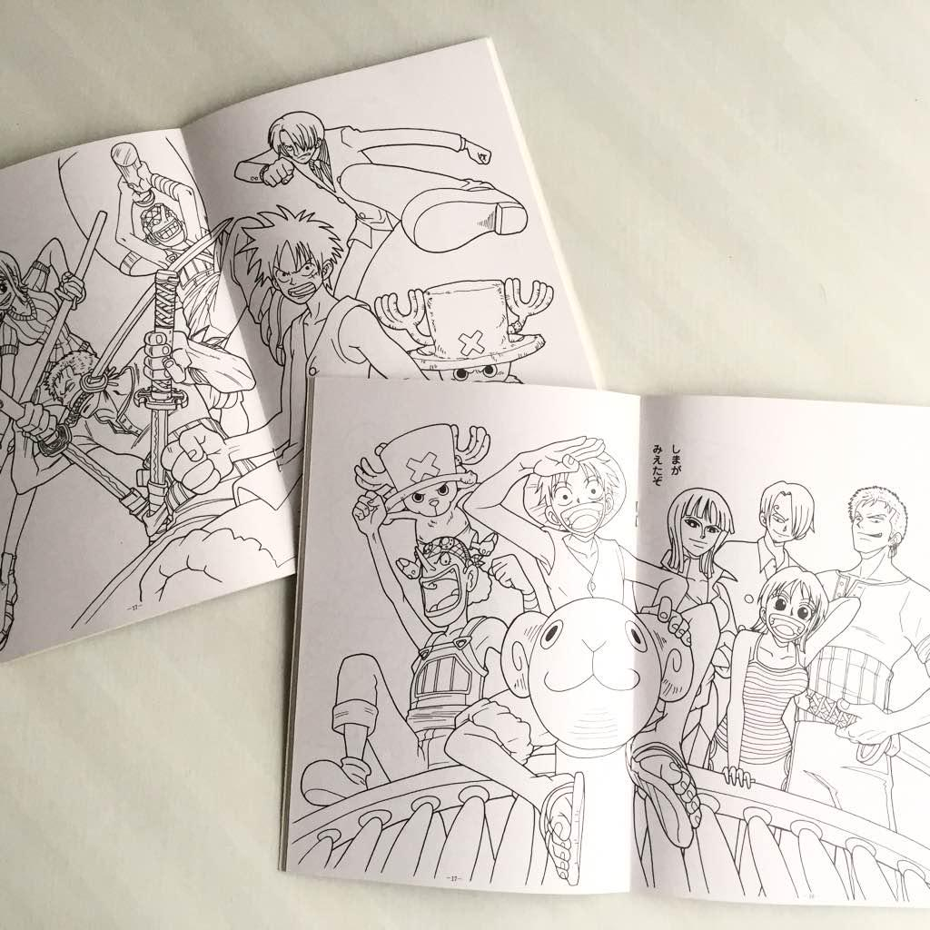 メルカリ 新品 ワンピース ぬりえ セット One Piece コミックアニメ