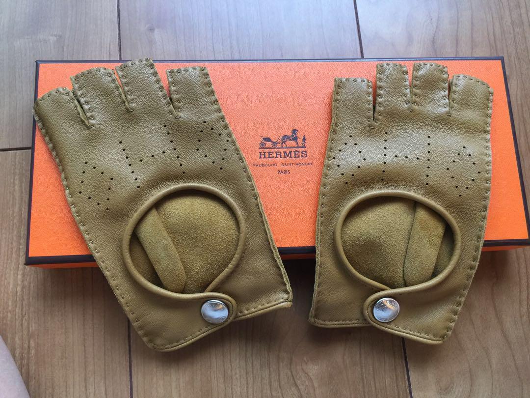 fcefe41610f9 メルカリ - 専用 エルメス ドライビンググローブ 指なし 手袋 美品 ...