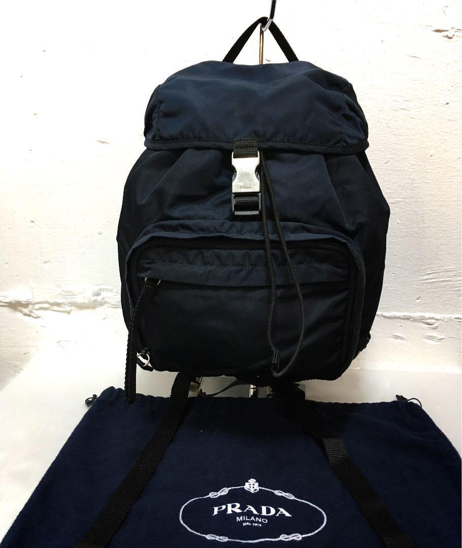 a893dfc19726 メルカリ - プラダ PRADA ネイビー リュック 背当て ベルト 付 保存袋 ...